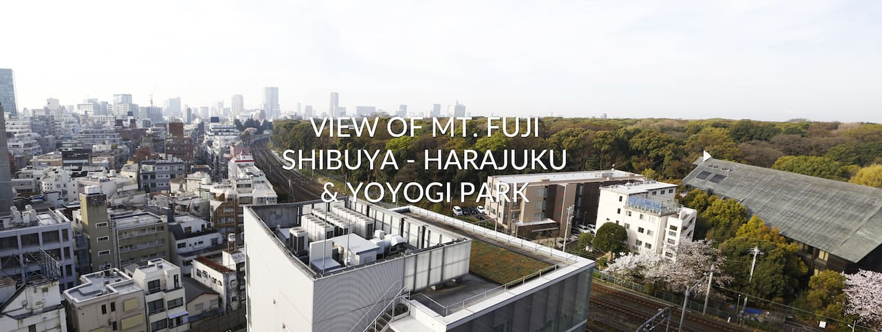 Luxury studio w/ Fuji's view + wifi - Shibuya - Apartment