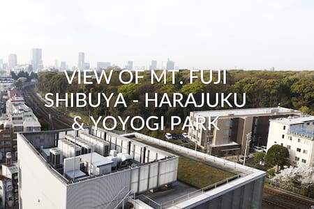 Luxury studio w/ Fuji's view + wifi - Shibuya - Lägenhet