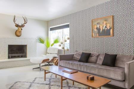 Mid-Century Modern 2bd Palm Springs - パームスプリングス