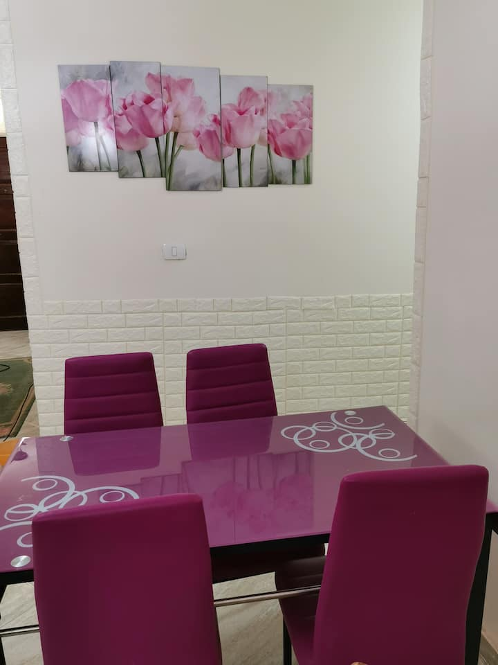 For rent: apartment in New Cairo, luxury life.