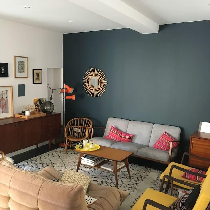 pièce à vivre 50 m2 partie salon