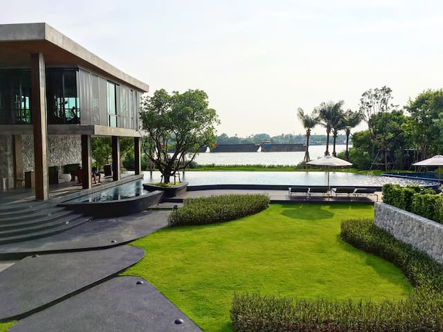 51sqm. Riverview on sunken balcony - Μπανγκόκ