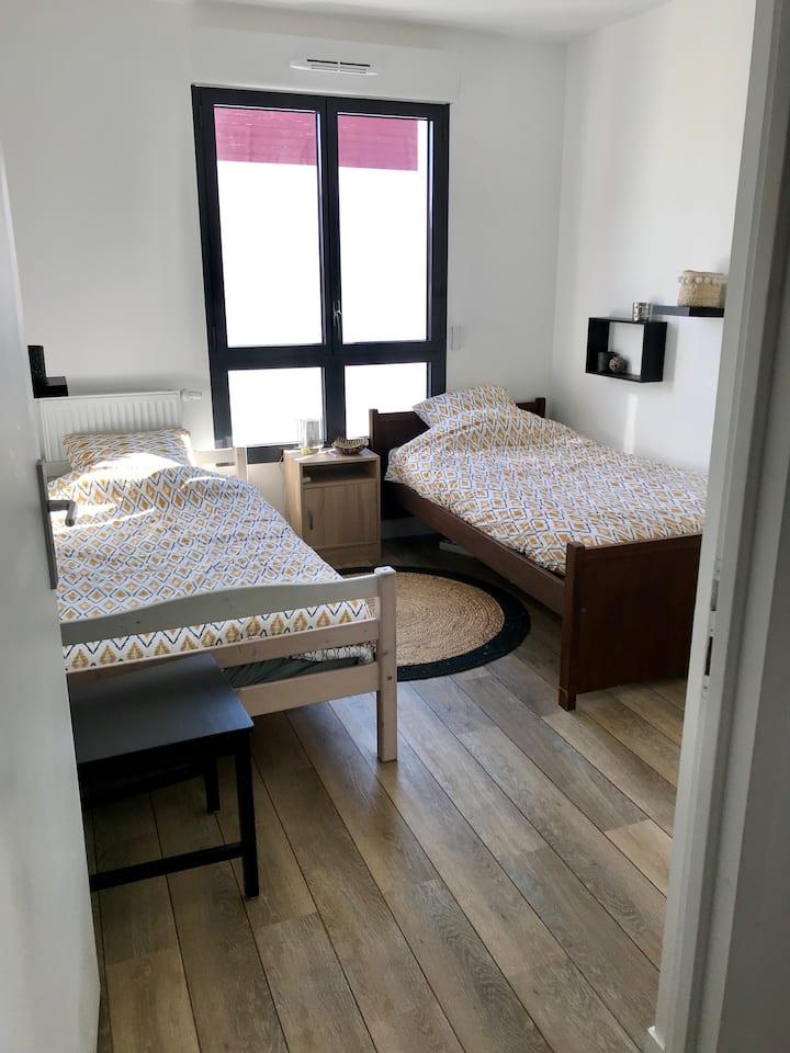 Chambre privée au cœur du centre ville d'Hossegor