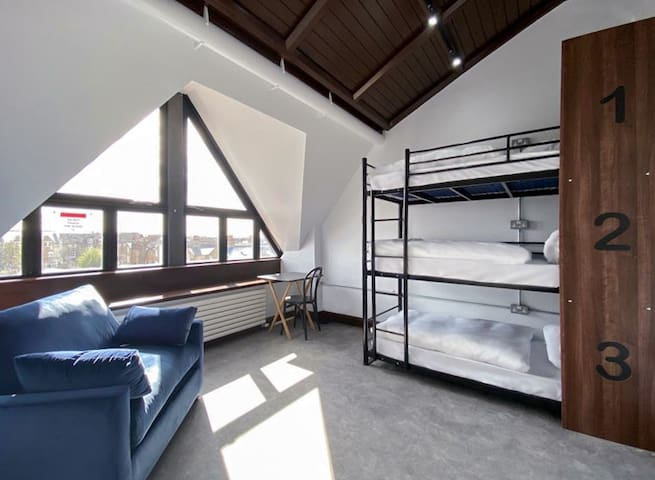 Triple Room in the Refurbished Old Church, Balham