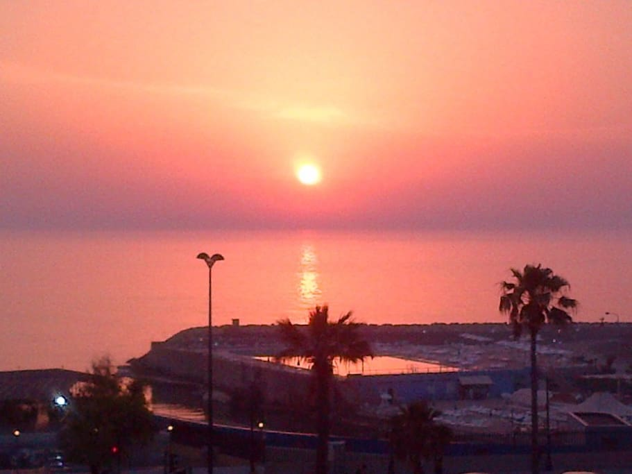 Breath-taking sunset - view from the balcony