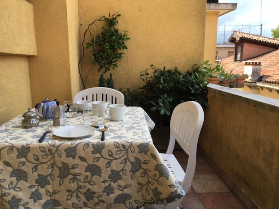 the table on the terrace