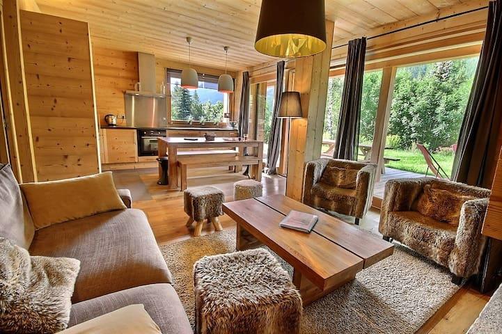 """""""Chalet de la Croix de  Bois"""" : garden floor with a large terrace - Le Monêtier-les-Bains - Apartamento"""