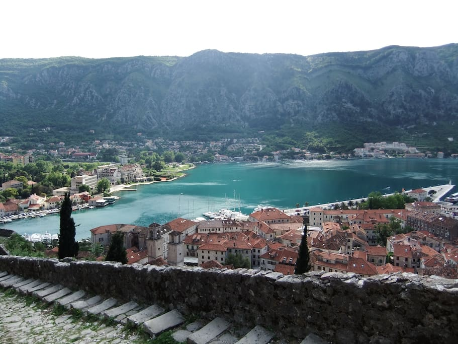 Kotor old town from Hill
