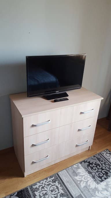 LED TV and cloths storage