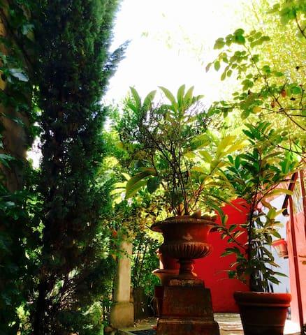 Chambre indépendante donnant sur le jardin