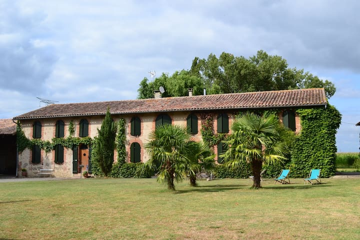 Merveilleux Dortoir ferme 19e siecl - Verdun-sur-Garonne - House