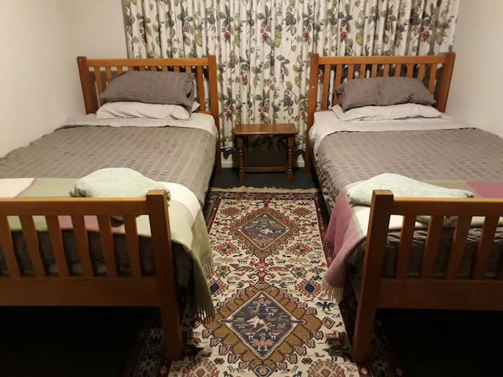 Quiet, central twin or super king room