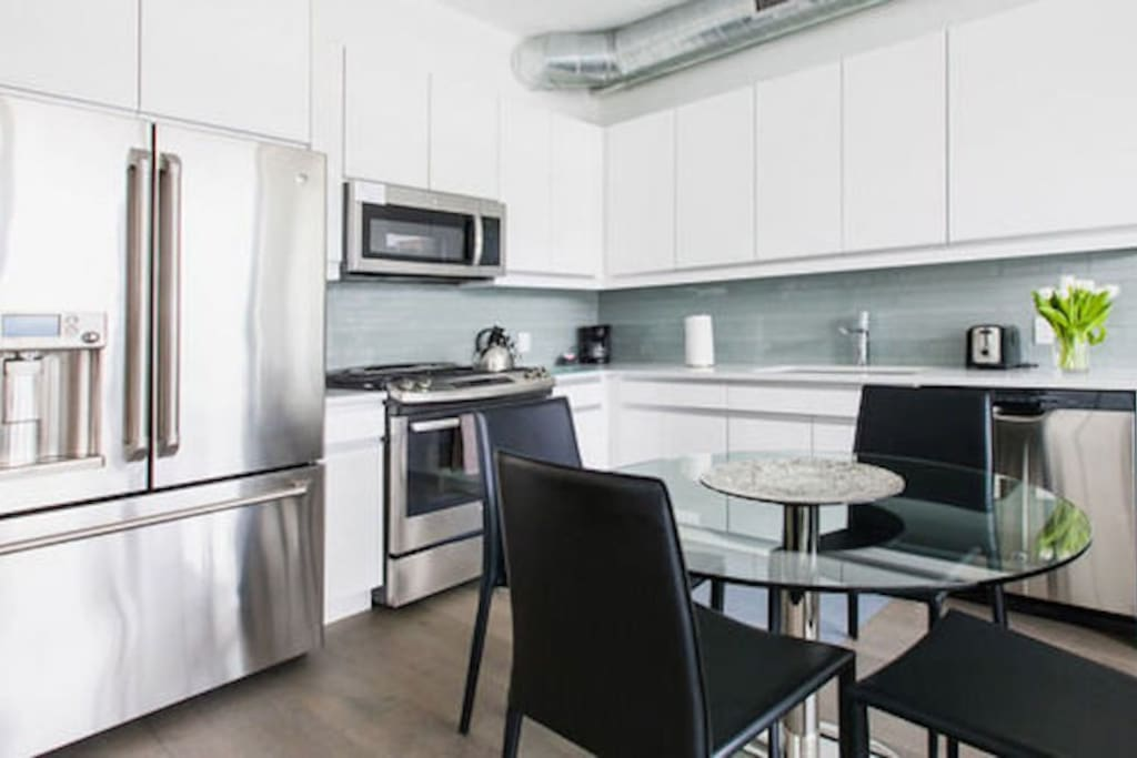 Studio Full Kitchen with Upgraded Stainless Steel Appliances