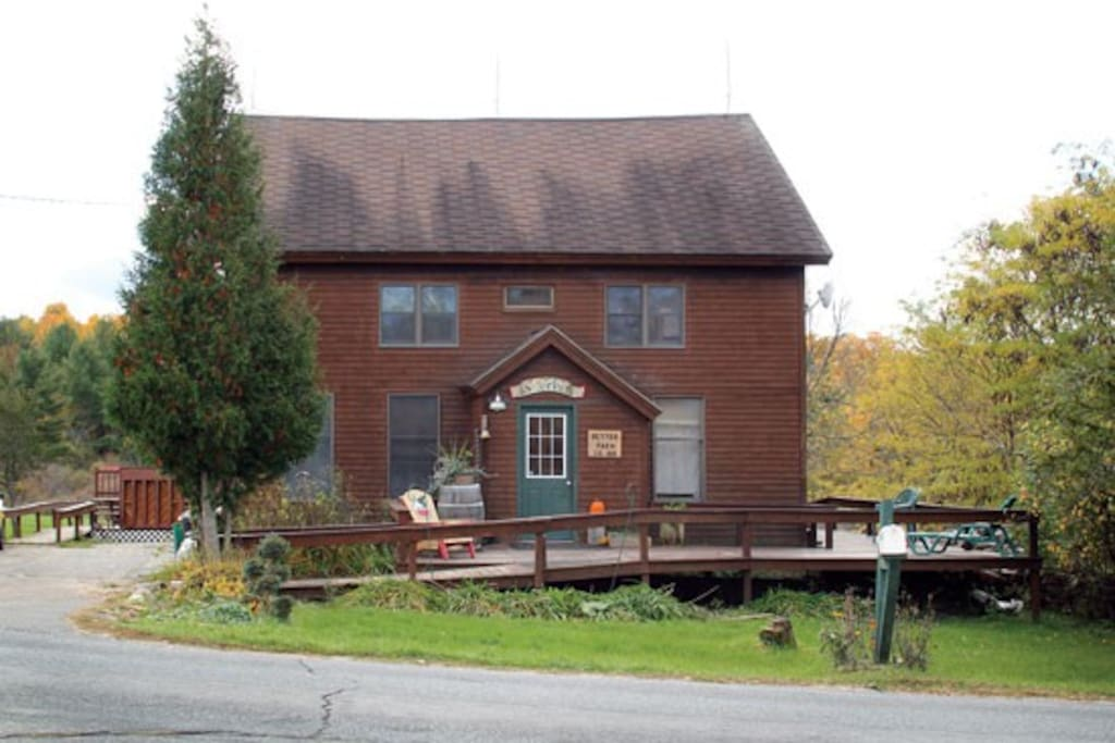 Main Farmhouse. Loft is located off laundry room on first floor.