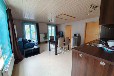 Ferienwohnungen Kätzlehaus, (Meßstetten), Obere Ferienwohnung, 35qm, Balkon, 1 Schlafzimmer, max. 4 Personen