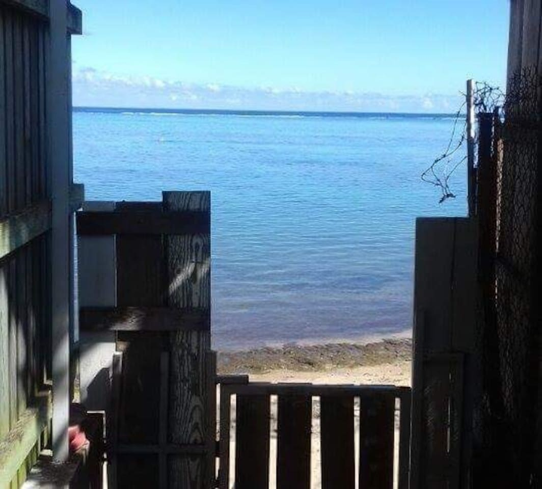 L'accès privé pour la plage