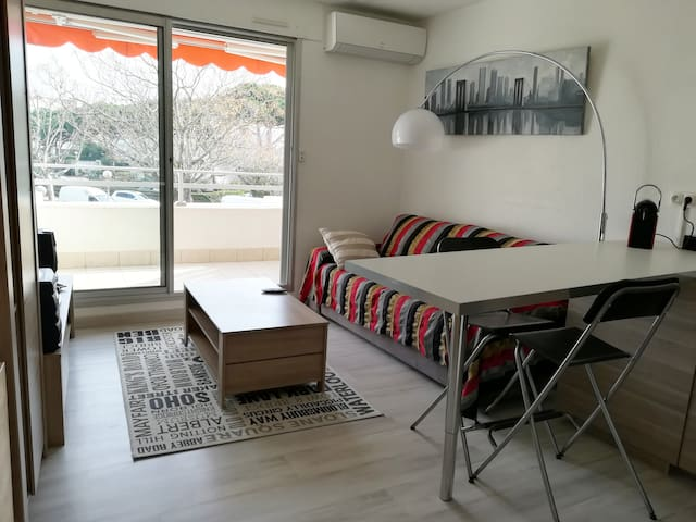 Studio cabine 27m2. parking clim plage du Couchant