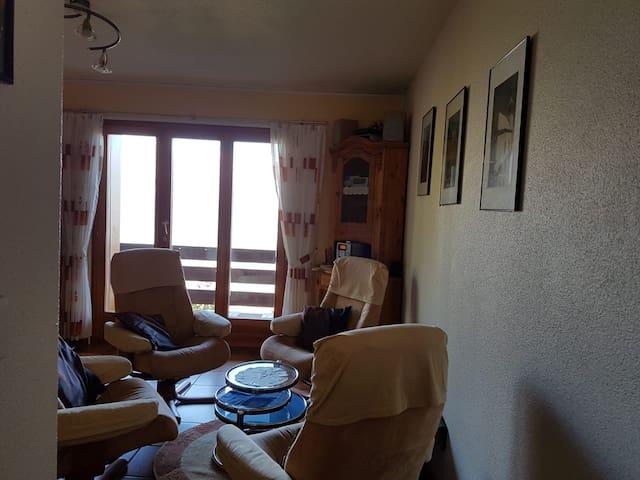 Blick vom Flur in den Wohnraum
