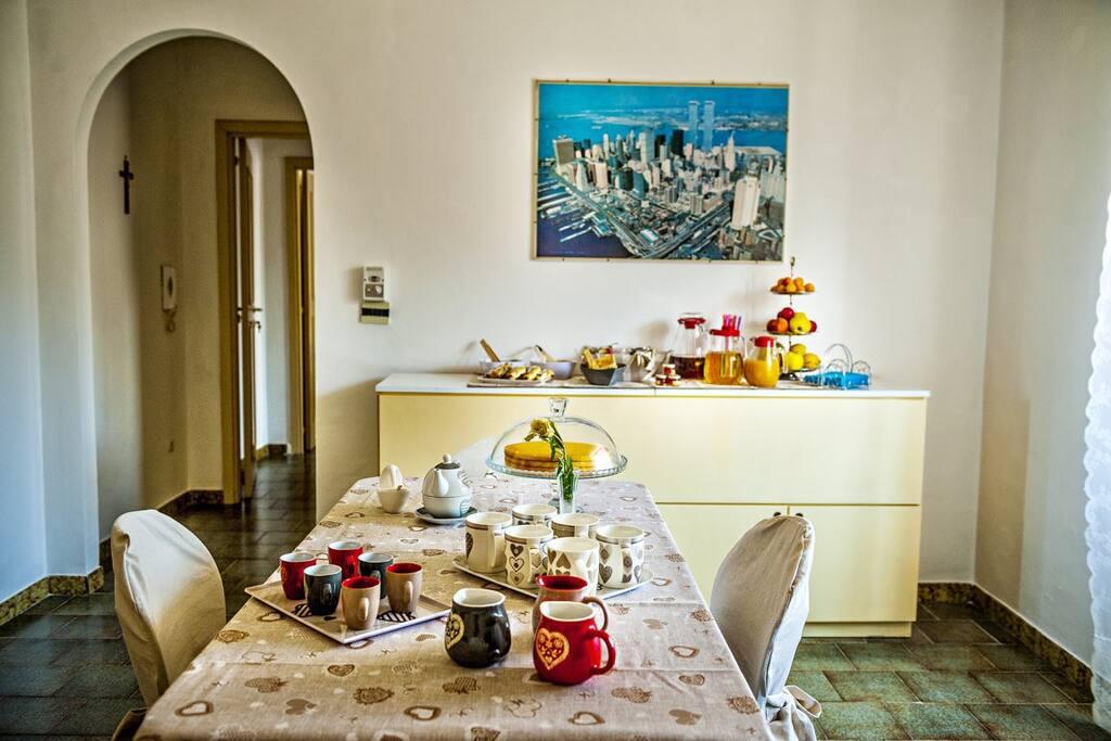 buffet all' italiana con prelibatezze di prima scelta