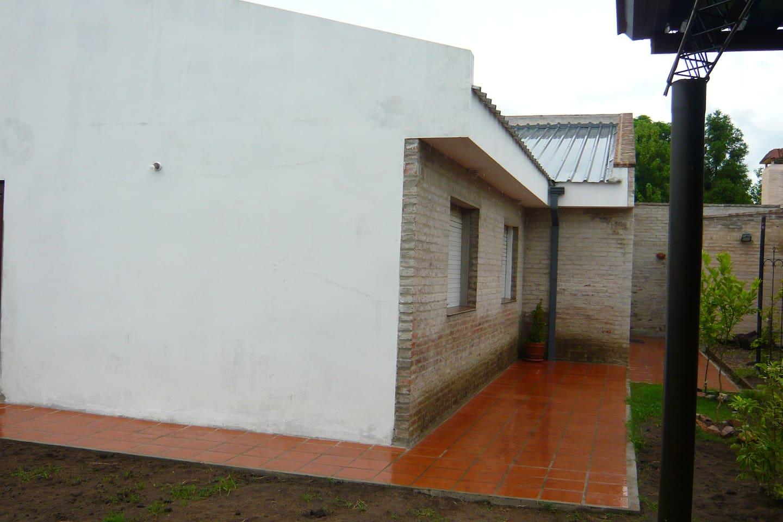 vista del frente de la  casa