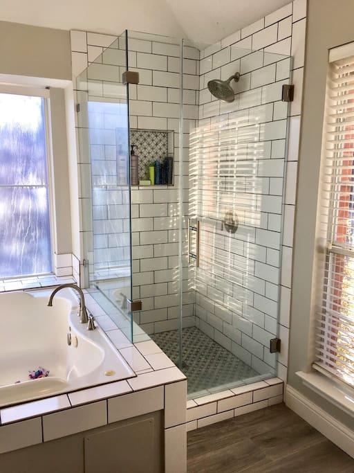Recently updated master bathroom