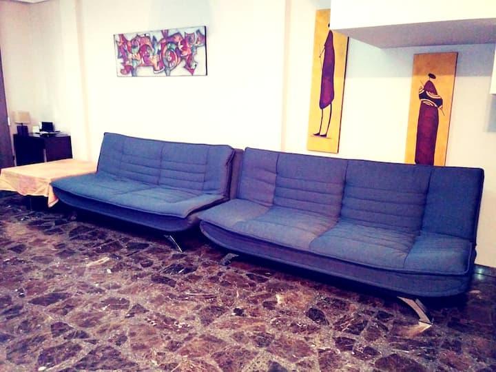 Apartamento de 2 habitaciones en Albacete, con WiFi