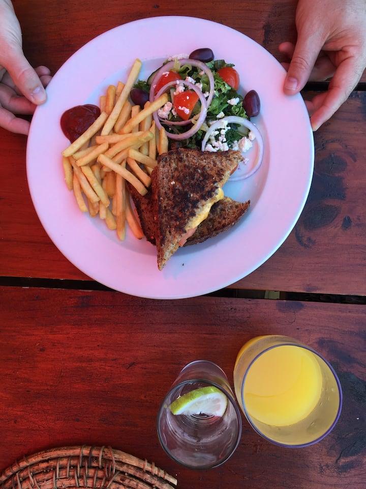 Lunch at Monkey Valley, Noordhoek