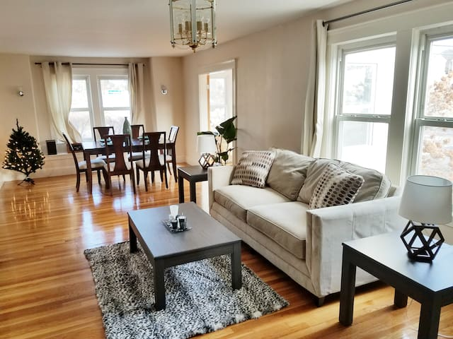 Updated  and bright living and dining rooms - All hardwood floors