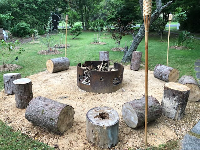 There's nothing quite like cooking on and telling stories around the stunning fire pit