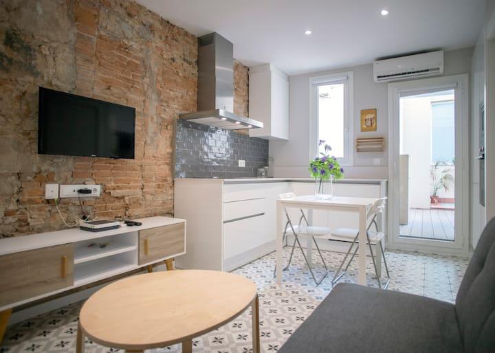 Apartamento con terraza privada