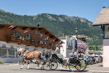 "Year round horse drawn carriage through the Village are a popular tourist ""must do."""