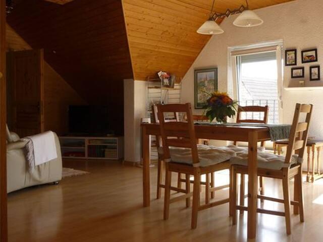 Haus Hitschler, (Müllheim), Ferienwohnung mit 60qm, 1 Schlafzimmer für max. 2 Personen