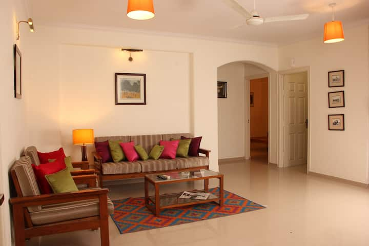 """Jaipur Apartment Stays"" Leafy Civil Lines 2BHK x4"