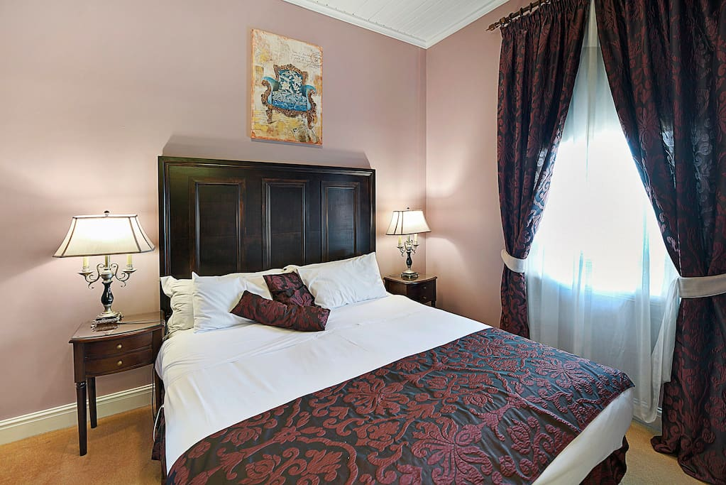 Room 2 Victorian - King, private bathroom opposite with seperate bath to shower. Boutique accommodation Warwick QLD