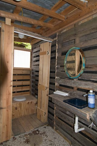 Sink and composting toilets