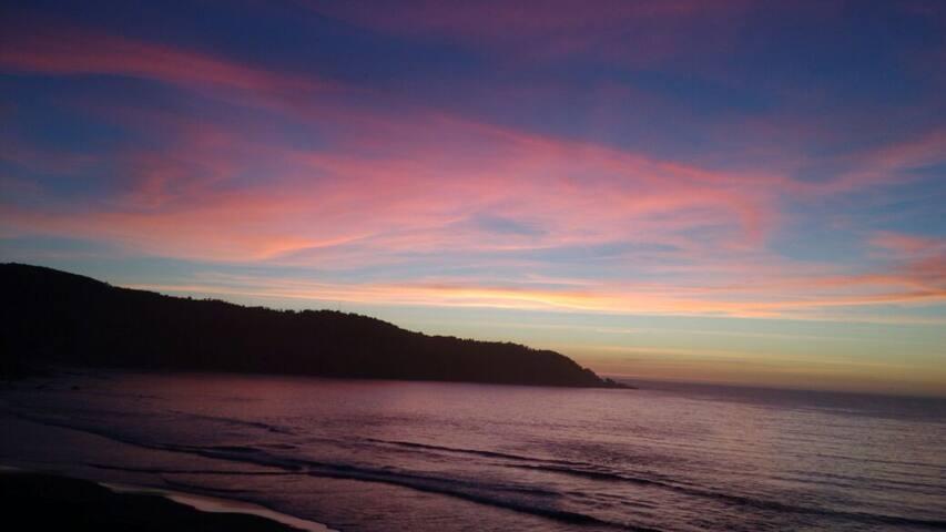 Naturaleza y el mar en la costa Huilliche.