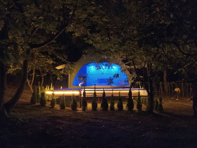 Türkiye'nin  ilk,dome glamping spa kubbe çadır evi