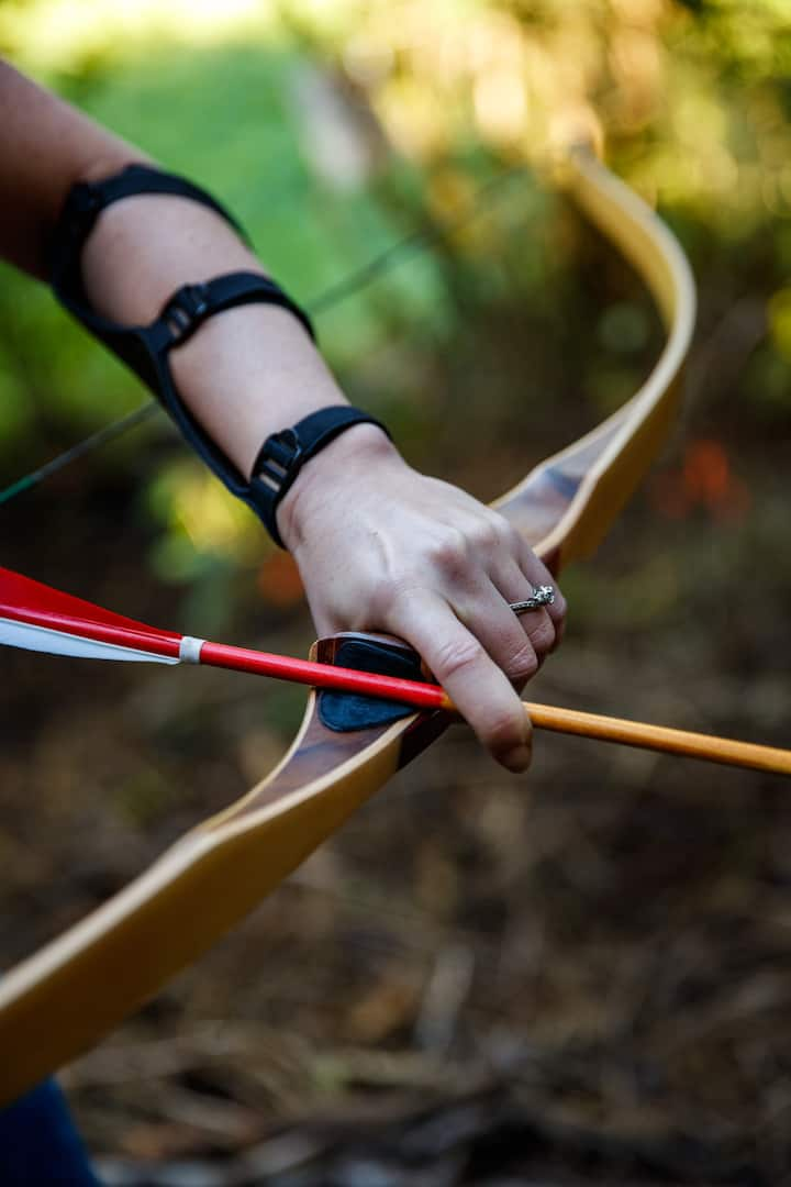 The longbows and arrows we use