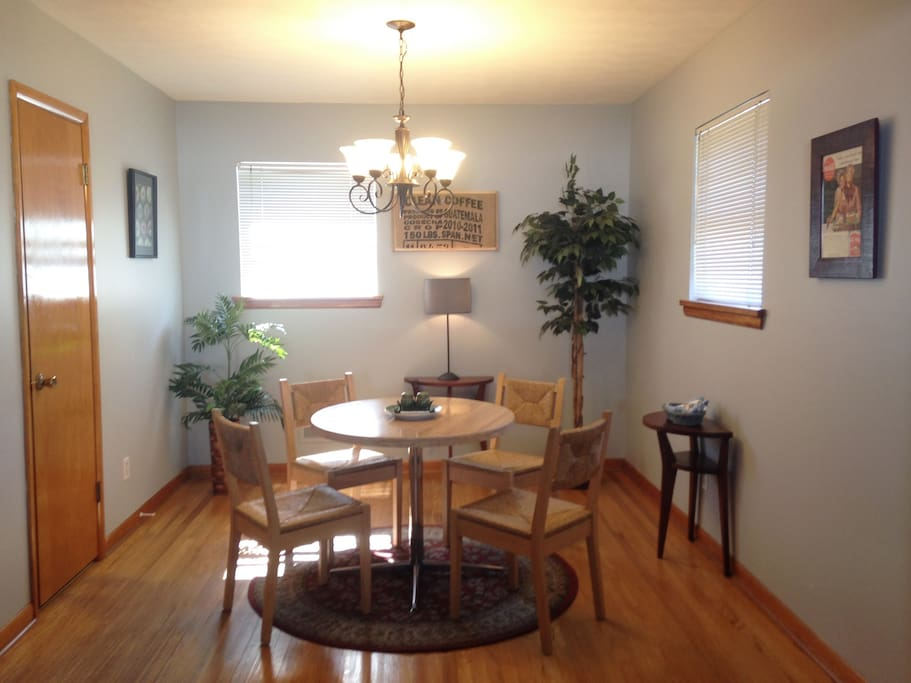Dining- open to the spacious kitchen