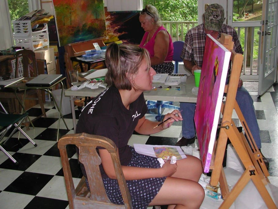 A young student, Shana Tankersley won a state competition and a scholarship while studying with Artist Anne Hamilton.