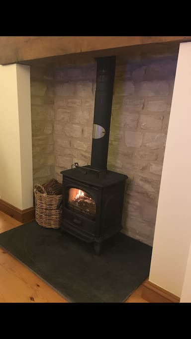 Open Stove Fireplace