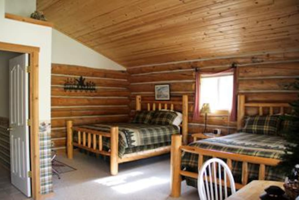 The Inn's real-chinked log cabins are spacious, light and airy.