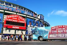 6.4 miles or 15 minutes away to Wrigley Field!