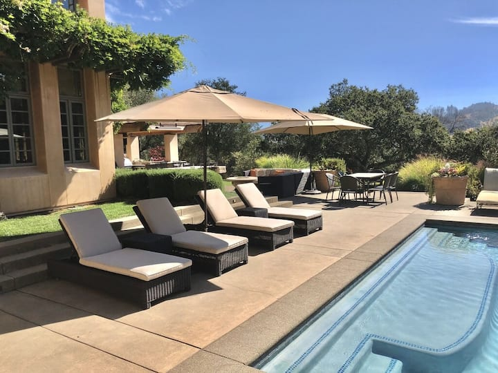 $37k/Month Wine Country Villa with Pool & Hot Tub