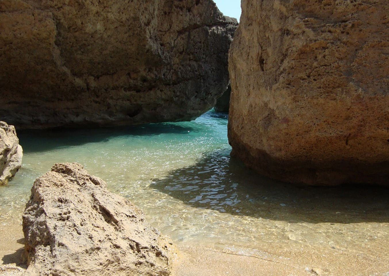 beach below apts