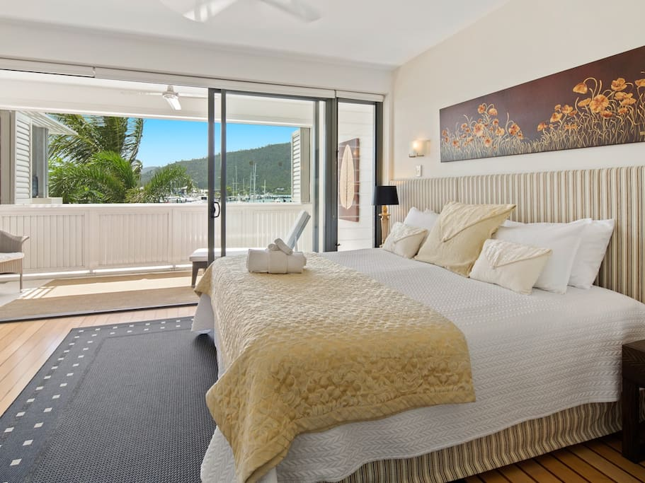 Absolutely feel spoilt, This Bedroom is fit for a King and Queen, comfy King sized bed, the room itself is generous in size, all the comforts, incredible views just outside your room. There is a T.V to enjoy in bed, and a stunning en-suite to enjoy.