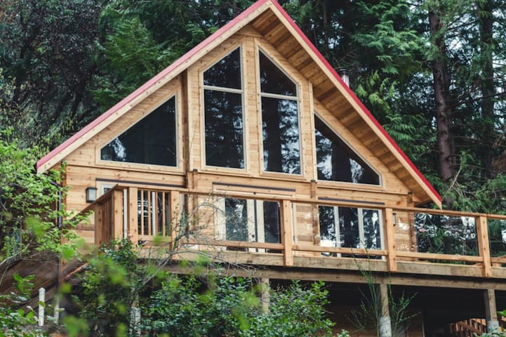 Galiano Island Red Roof Cabin