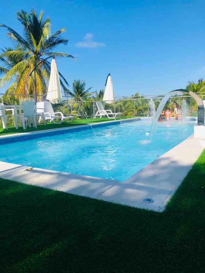 Cabaña Playa Mendoza 8 pax Vía al Mar Cartagena