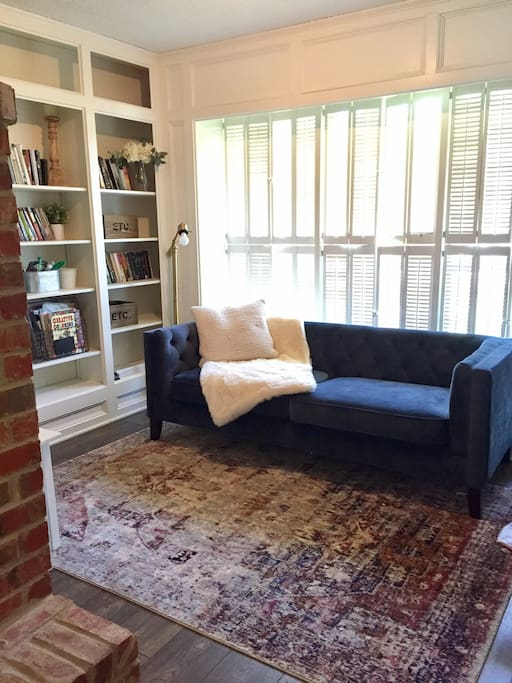 Library/sitting area off of living room.