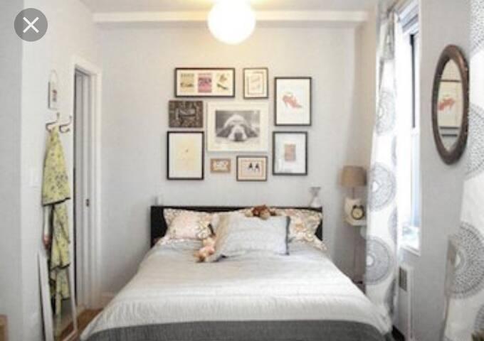 Linda habitación para pareja o persona sola